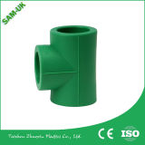 Grados de la fabricación PPR de China 90 asentaron la pieza inserta de cobre amarillo plástica del codo PPR codo de 90 grados