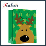 bolso de ropa del papel del diseño del día de fiesta de la Feliz Navidad del papel de arte 157g