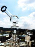 Neuester '' Filtrierapparat-Glasrohr-Vogel-Rahmen Perc des Duell-13 mit Abdeckung Perc Glas-Rohr