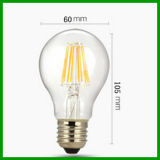 Шарик 2016 нити RoHS 220-240V A60 E27 806lm Dimmable 8W СИД Ce TUV