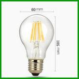 Lampadina 2016 del filamento di RoHS 220-240V A60 E27 806lm Dimmable 8W LED del Ce di TUV