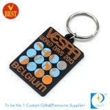 PVC macio relativo à promoção marcado costume Keychain (LN-0193)