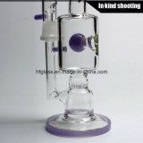 Трубы двигателя Toro ЛИМАНДА буровой вышки труб водопровода барботера стеклянной Stemless двухполярной пурпуровой стеклянной пурпуровая стеклянная оснащает сот труб водопровода
