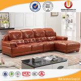 Sofà d'angolo di cuoio moderno, L moderna sofà di figura, sofà di cuoio di Foshan (UL-B1603)