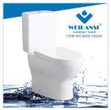 Weidansi en céramique Wash Down S-Trap Two Pieces Toilet (WDS-T6205)