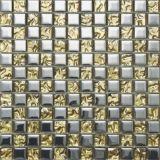 Azulejo de la pared de la decoración de materiales de acero inoxidable del mosaico del cristal de mosaico (FYMC016)