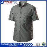 Großhandelsmechaniker-Arbeits-Hemden schließen Hülsen-Arbeitskleidung kurz (YWS112)