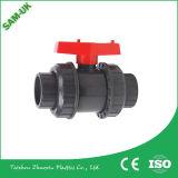 "1/2 ""UPVC Union Double Check / válvula de esfera Alavanca de alavanca PVC Material China Preço baixo do fornecedor para Índia Mercado do Irã"