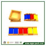 Juguete de madera certificado del tablero educativo de encargo del color