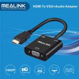 Cabo de conversão HDMI para VGA (com áudio)