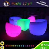 Im Freien Glühen-Plastikstab-Sofa der Möbel-LED