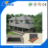 異なったカラーの長い耐久の屋根シートのタイルか石造りの上塗を施してある屋根の物質的な屋根瓦