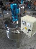 Pasteurizador eléctrico del tanque de la envuelta exterior calefactora del jugo de la leche con el mezclador