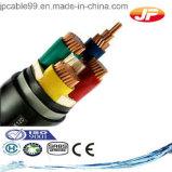 Силовой кабель PVC низкого напряжения тока изолированный и обшитый