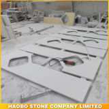 Bancada branca da pedra de quartzo para a cozinha ou o banheiro