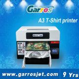 安いA3サイズの販売のための平面Garros 3Dデジタルの綿の白くおよび黒いTシャツの印字機