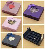 Aduana que empaqueta la caja de papel dulce del chocolate del regalo