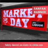 Bandera al aire libre barata de encargo de la impresión del vinilo de la flexión del PVC para hacer publicidad