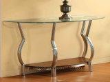 Viereck, Oval, gebogene Glasoberseite für Wohnzimmer-Tisch