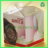 Caja de empaquetado del regalo plástico portable de gama alta de la impresión en color