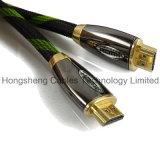 Кабель a к a оплетки HDMI металла Nylon сетчатый