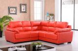 Sofá moderno para los muebles de la sala de estar con rojo del cuero genuino