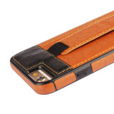 iPhone ultra fino 6s da tampa traseira da carteira do suporte de cartão da cinta da mão da caixa do telefone de pilha mais o caso