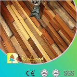 l'hickory de texture de fibre de bois de 12mm a ciré le plancher en stratifié bordé