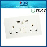 Universal BRITÂNICO de Distribut soquete de parede elétrico dobro do USB do soquete de 13 ampères