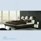 Base di cuoio comoda di alta qualità per la mobilia moderna della camera da letto (HW-K207B)