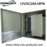 12V 18channels Boxed Power Supply Unit pour CCTV Camers (12VDC20A18PN)