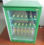 Le refroidisseur en verre de barre de dos de porte a conçu pour la bière