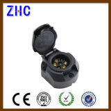 El acoplado redondo del Pin de voltio superior 7 de la venta 12 semi parte el rectángulo y el conector del socket