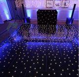 Hete LEIDENE van de Oppervlakte van de Verkoop Zwarte Vloer met Door sterren verlicht Lichteffect