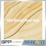 L'arenaria gialla delle mattonelle di pavimento per la pavimentazione/il rivestimento/punto della parete con oro gradicono
