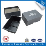 Color nero Paper Gift Box con Silver Logo