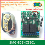 Smg-802hcs301 12V Rolling Code 2CH Remote Controller con Programming Pads