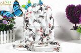 Sac à dos en cuir 2016 d'unité centrale d'impression de papillon de mode