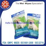 Conformité de GMPC, FDA, chiffon d'animal familier, chat de chienchien nettoyant les chiffons humides