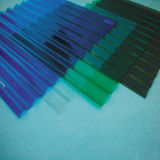 Color de plástico corrugado láminas de policarbonato
