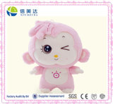 Jouet animal de peluche de grand singe principal rose de Sun de Cuddy