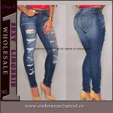 De elegante Dames die van de Manier de Magere Jeans van het Denim verfrissen (78648)