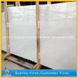 Mattonelle di pietra di marmo bianche come la neve cinesi per la parete, pavimento, controsoffitto