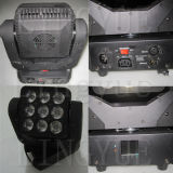 9X12W RGBW DMXのビームLEDマトリックスの移動ヘッド