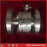API 6D 2 PCS Bolt Bonnet Floating Forged Ball Valve