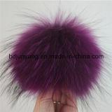 Grand trousseau de clés de Pompom de fourrure de raton laveur de mode