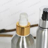 金か銀製のローションポンプ(PPC-ACB-002)を搭載する装飾的なアルミニウムローションのびん