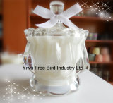 Vela natural de la cera de la soja del regalo romántico elegante con el rectángulo de encargo