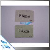 Étiquette tissée par tissu d'étiquette tissée par coutume pour le vêtement