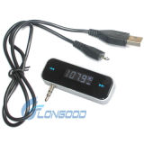 3.5mm Jack Car FM Transmitter mit Car Charger für iPhone